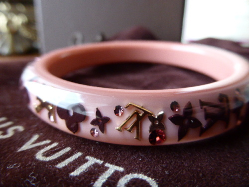 Louis Vuitton Inclusion Bracelet in Caramel Pink (Small)