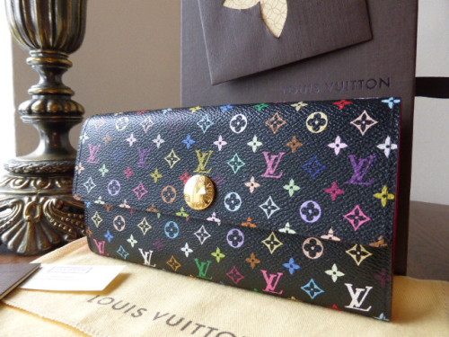 Louis Vuitton Sarah Wallet in Black Multicolore