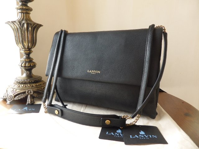 Lanvin Sugar Medium in Black Calfskin -  New