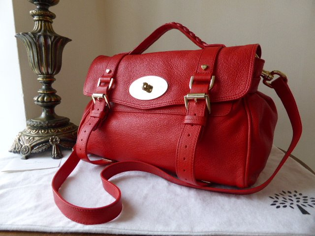 Mulberry Regular Valentine Alexa in Red Glossy Goat 4