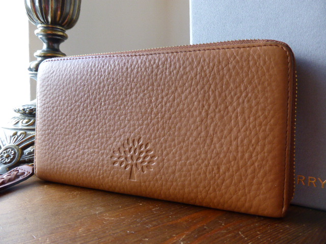 Mulberry Effie Zip Around Continental Wallet in Oak