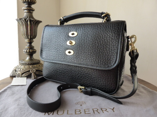 Mulberry Bryn in Black Shiny Grain Leather