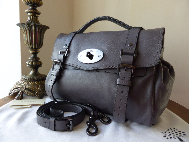 Mulberry Regular Alexa in Foggy Grey Buffalo Leather