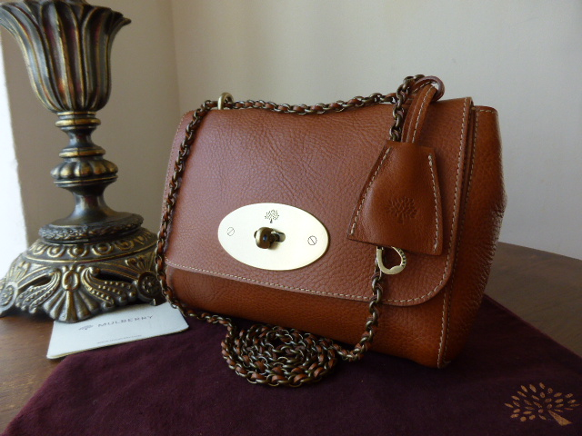Mulberry Lily in Oak Natural Leather