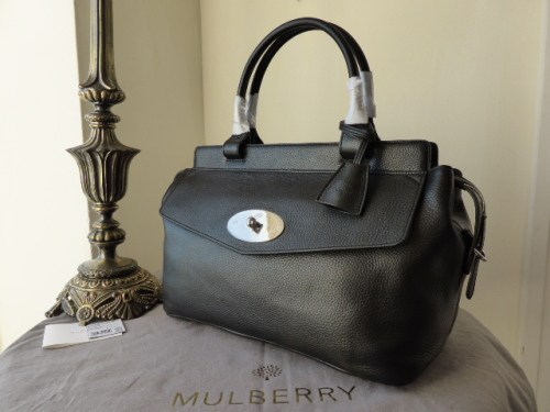 Mulberry Blenheim Tote in Black Soft Grain Leather - New