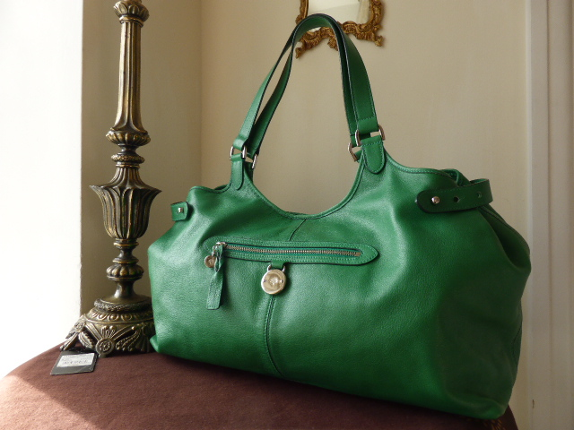 Mulberry Somerset Large Tote in Emerald Pebbled Leather