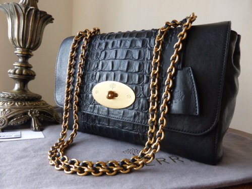 fa88fa42df2d usa medium lily black glossy goat leather family mulberry 3b85d 34e38   amazon mulberry medium lily black croc nappa stripe sold 13fbc af1ab