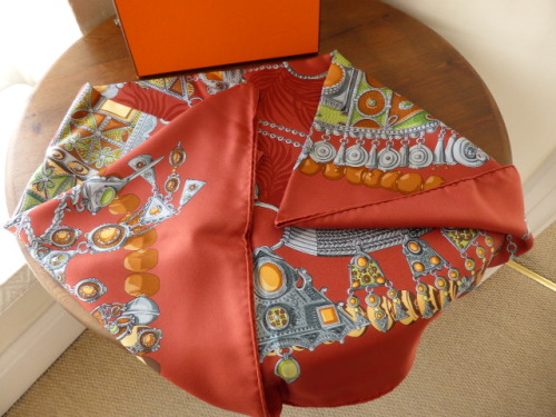 Hermés Terres Precieuses Silk Scarf - As New