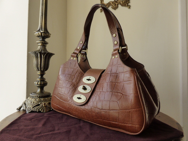 Mulberry Brompton in Oak Kenya Leather