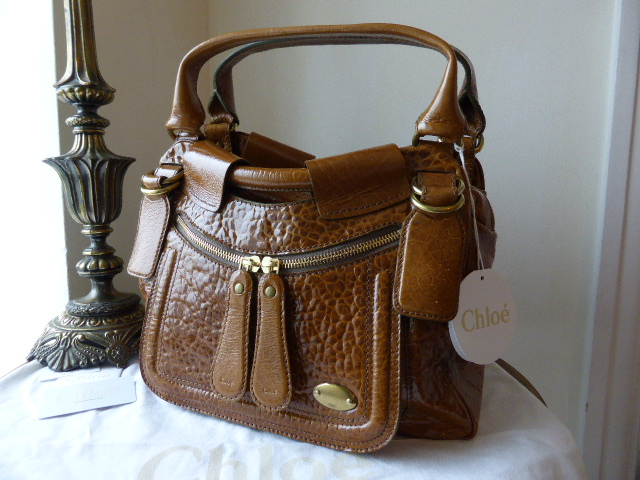 Chloe Large Bay Bag in Patent Lambskin - New*