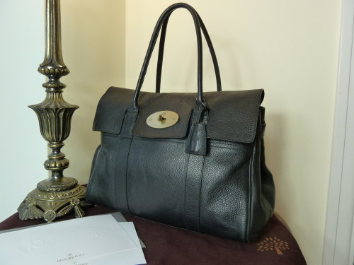 Mulberry Bayswater in Black Natural Leather