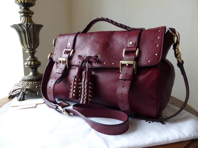 Mulberry Regular Tassle Alexa in Black Forest Soft Matte Leather