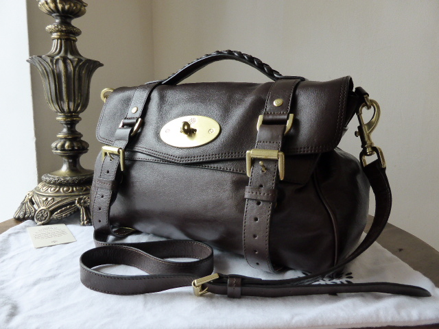 Mulberry Regular Alexa in Chocolate Soft Buffalo Leather