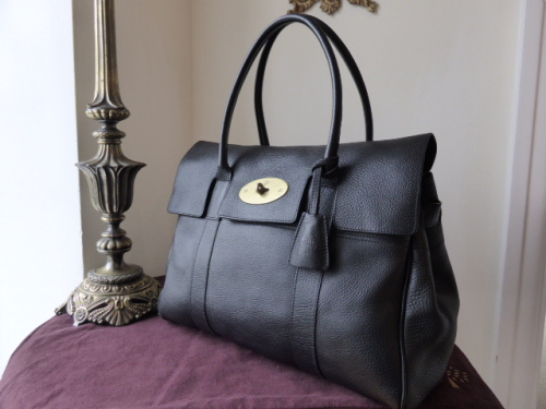 Mulberry Bayswater in Black Natural Leather ref 9