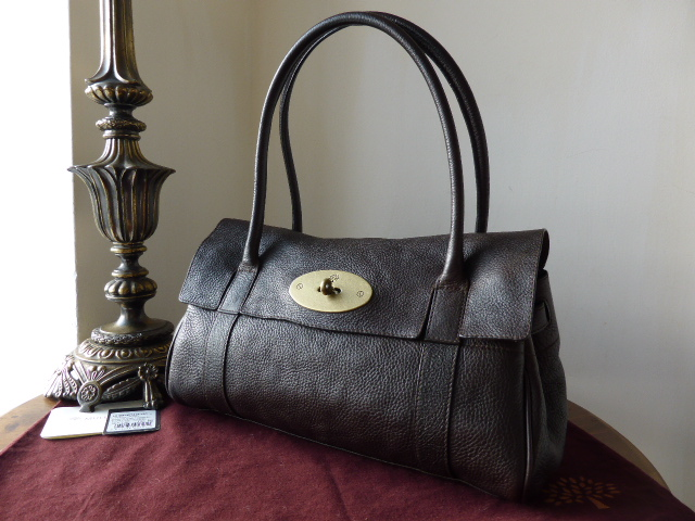 Mulberry East West Bayswater in Chocolate Natural Leather ref 10