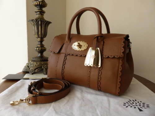 Mulberry Small Bayswater Satchel Cookie in Oak Soft Matte Leather