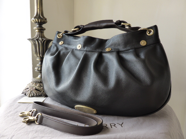 Mulberry East West Mitzy Hobo in Black Pebbled Leather