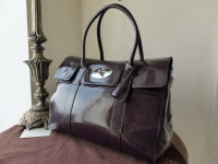 Mulberry Bayswater in Rouge Noir Wrinkled Patent Leather