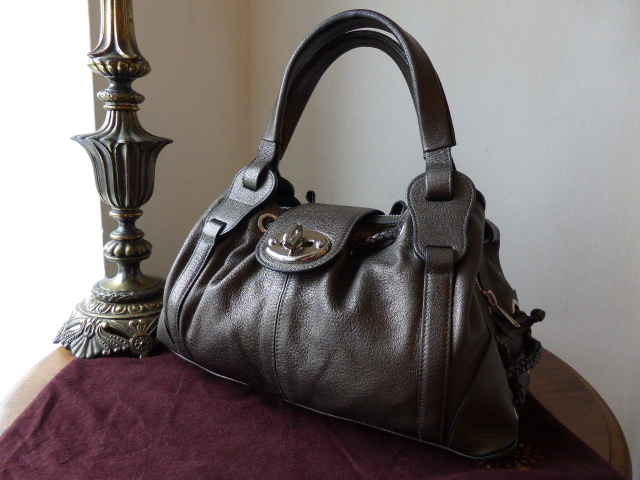 Mulberry Agyness in Gunmetal Goatskin