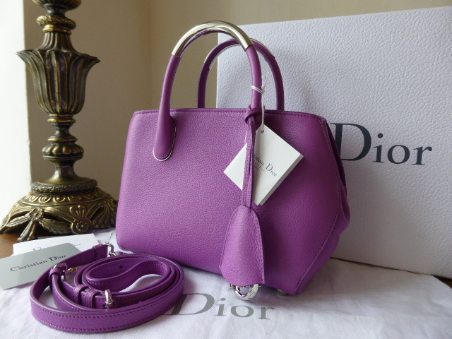 Dior Mini Bar in Violet Grained Leather - As New