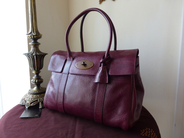 Mulberry Bayswater in Plum Antique Glace Leather