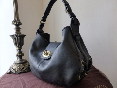 Mulberry Agyness Hobo in Black Natural Leather