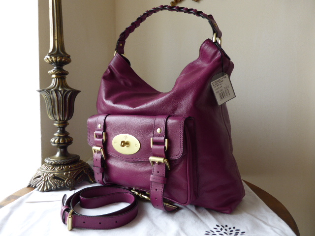 Mulberry Alexa Hobo in Plum Soft Buffalo Leather  - NEW*