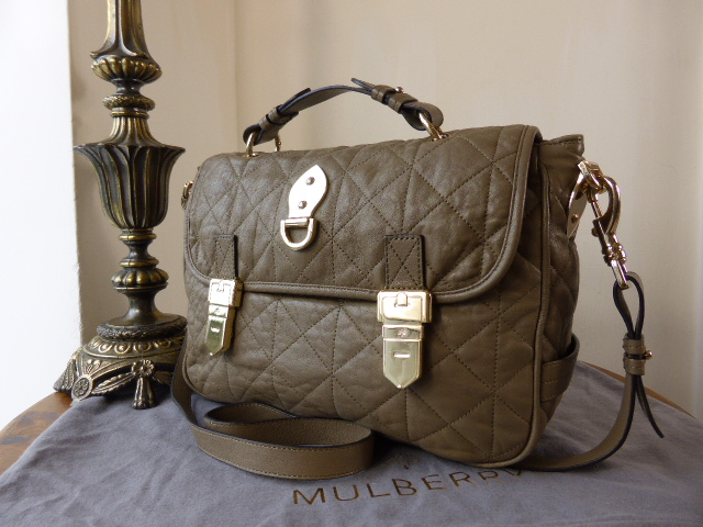 Mulberry Tillie Satchel in Birds Nest Quilted Calfskin