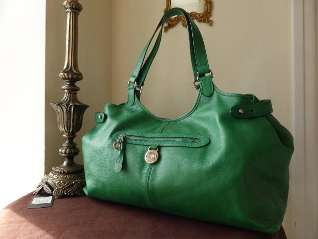 Mulberry Somerset Tote Large Emerald Pebbled