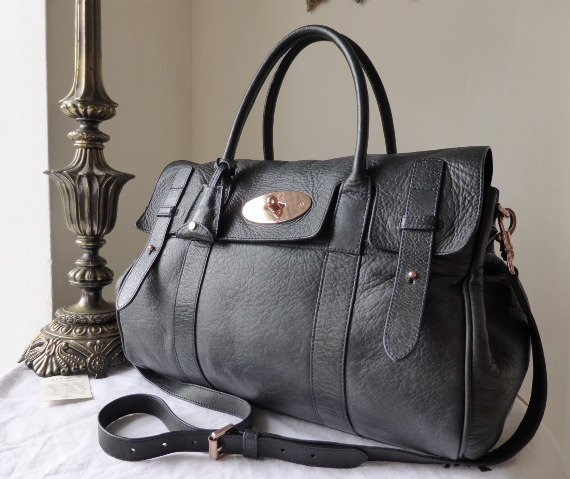 mulberry heritage bayswater midnight soft matte