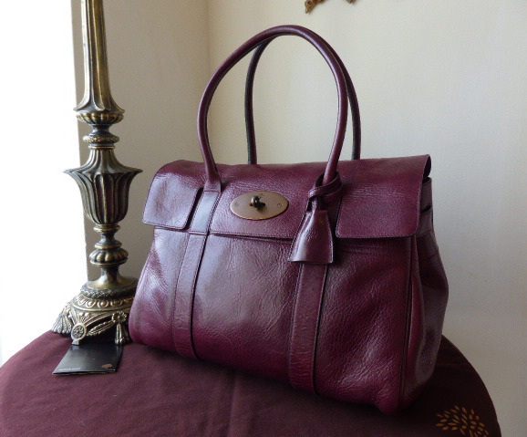 mulberry bayswater plum antique glace