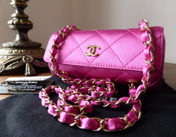 chanel satin roll fuschia