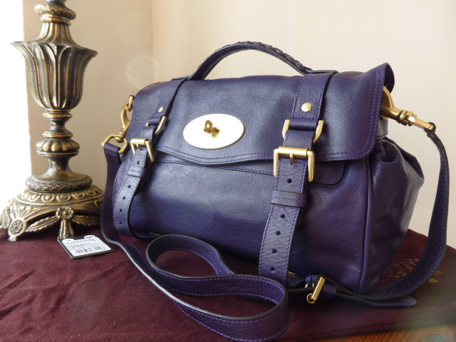 Mulberry Regular Alexa in Grape Soft Buffalo Leather