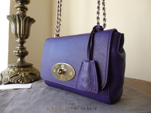 Mulberry Lily Ltd Edition John Lewis 150th in Purple Glossy Goat Leather -