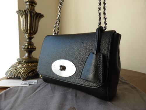 Mulberry Lily in Black Glossy Goat with Nickel - New