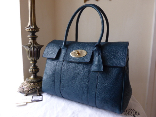 Mulberry Bayswater in Petrol Vegetable Tanned Lambskin - New*