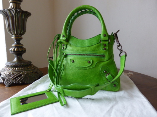 Balenciaga First Classique Mini in Apple Green