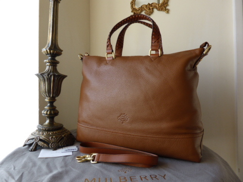Mulberry Effie Tote invOak Spongy Pebbled Leather - New