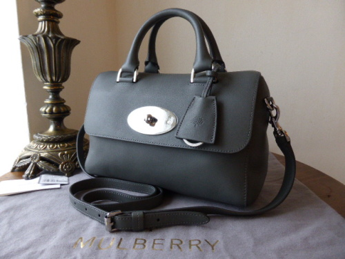Mulberry Del Rey (Small) in Pavement Grey Silky Classic Calf Leather - New
