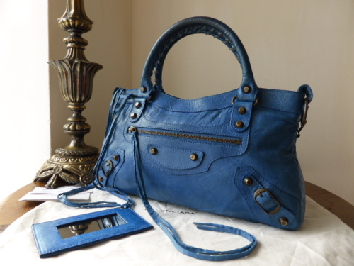 Balenciaga Classic First in Electric Blue Agneau