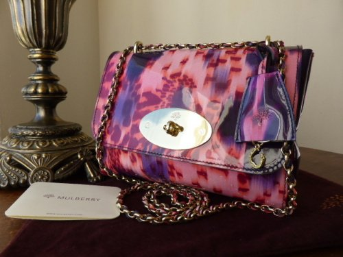 Mulberry Lily in Plum Loopy Leopard Patent Leather