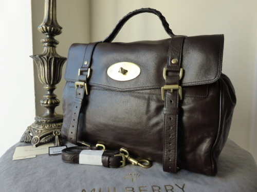 Mulberry Oversized Alexa in Chocolate Buffalo Leather - New* (ref 2)
