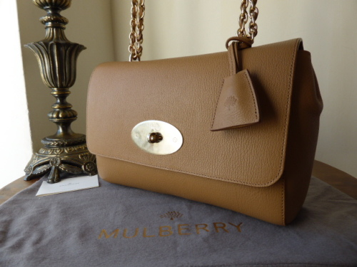 Mulberry Lily Medium in Deer Brown Grainy Print Leather - New