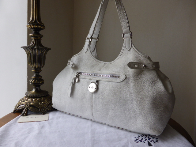 Mulberry Somerset Large Tote in White Pebbled Leather
