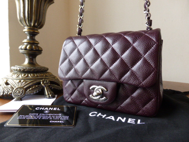 Chanel Mini Timeless Classic Flap Bag in Bordeaux Caviar