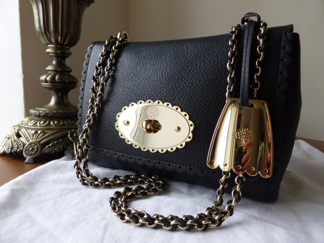 Mulberry Lily (Regular) Cookie in Soft Matte Black Leather