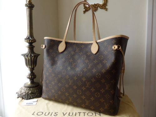 Louis Vuitton Neverfull GM Monogram with Fuschia Lining - New