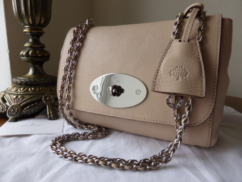 Mulberry Lily (regular) in Pebble Beige Glossy Goat Leather - New