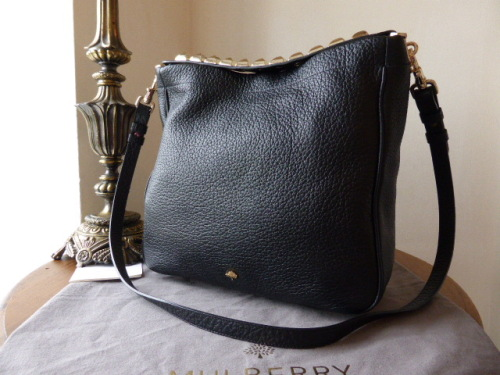 Mulberry Eliza Hobo in Black Soft Large Grain Leather