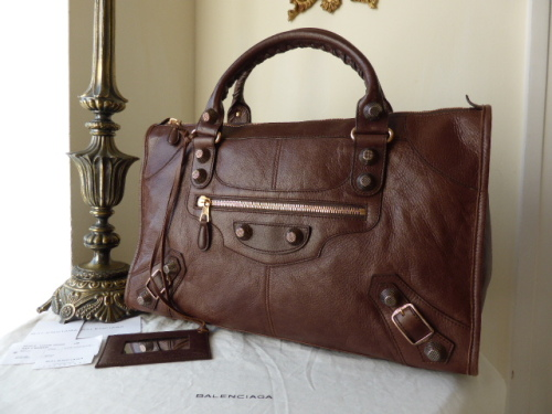 Balenciaga Giant 21 Work in Castanga Agneau with Rose Gold Hardware